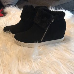 Wedge booties. Excellent condition. Size 10